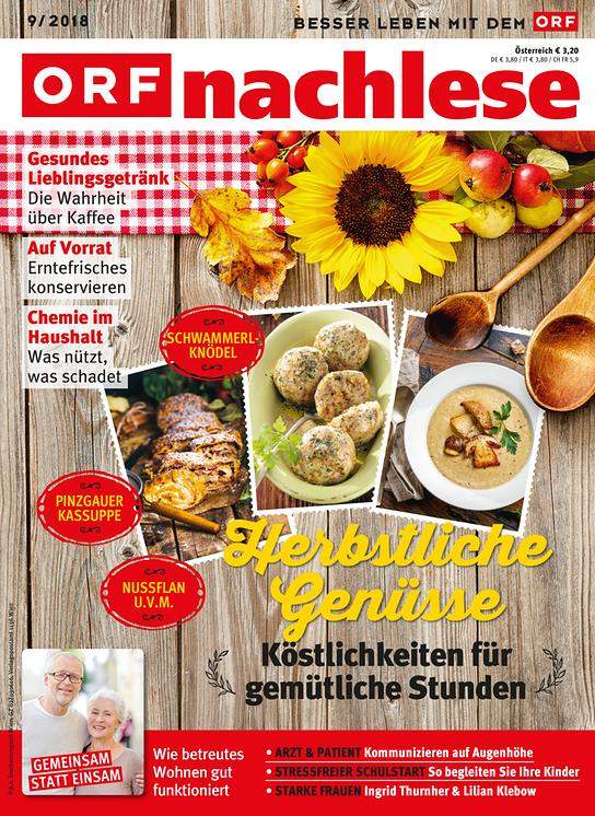 ORF nachlese September 2018: Cover