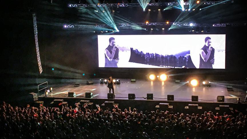 "Cesár Sampson bei ""Eurovision in Concert"" - dem größten ESC-Pre-Event in Amsterdam."