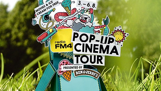 Die FM4 Pop-up Cinema Tour, vom 03-06.08.2016