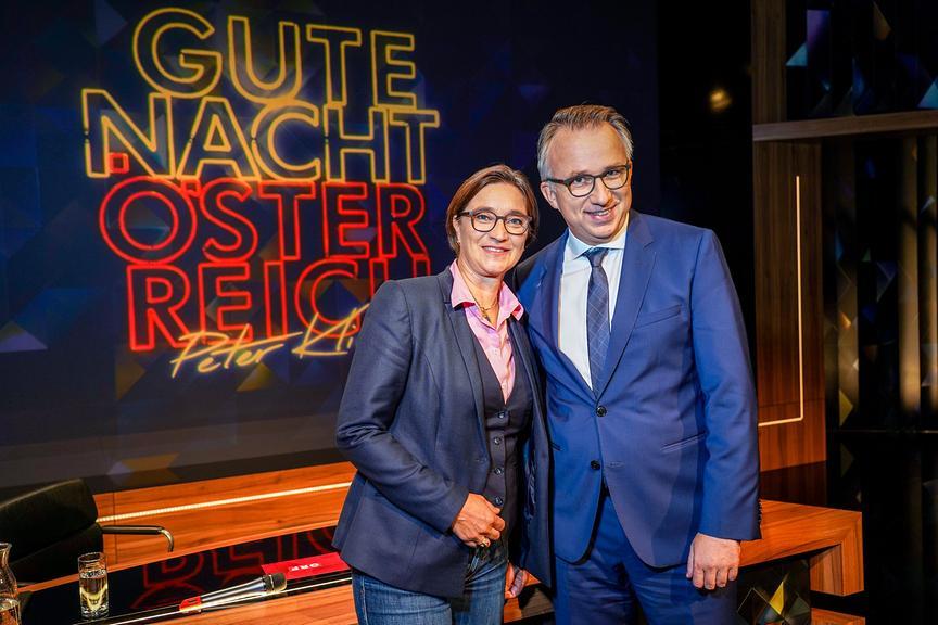 """""""Gute Nacht Österreich"""": ORF-1-Channelmanagerin Lisa Totzauer, Peter Klien"""