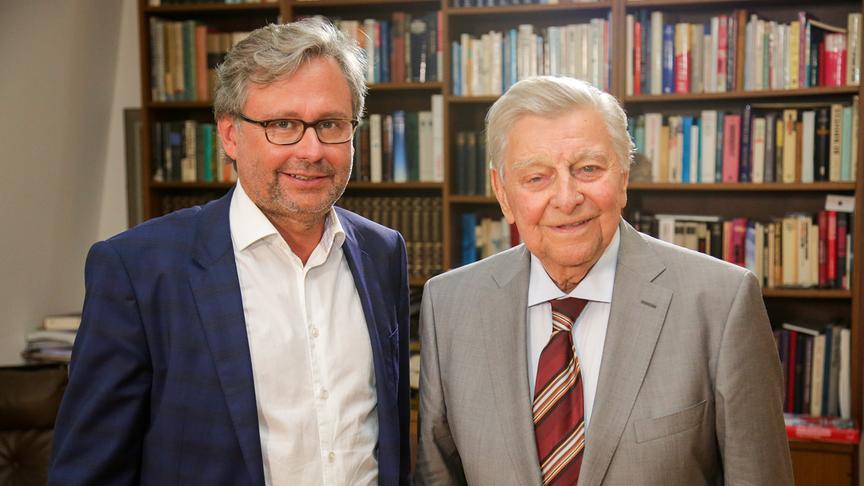 """""""Hugo-Portisch-Biografie als neuer ORF-III-Dokudreiteiler"""": ORF-Generaldirektor Dr. Alexander Wrabetz, Hugo Portisch"""