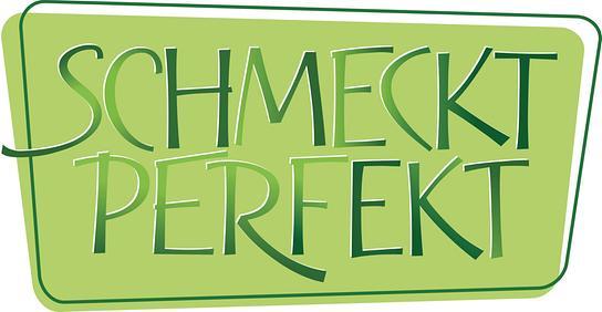 """""""Schmeckt perfekt""""-Logo"""