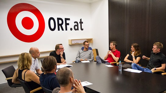 Redaktionssitzung bei ORF Online und Teletext